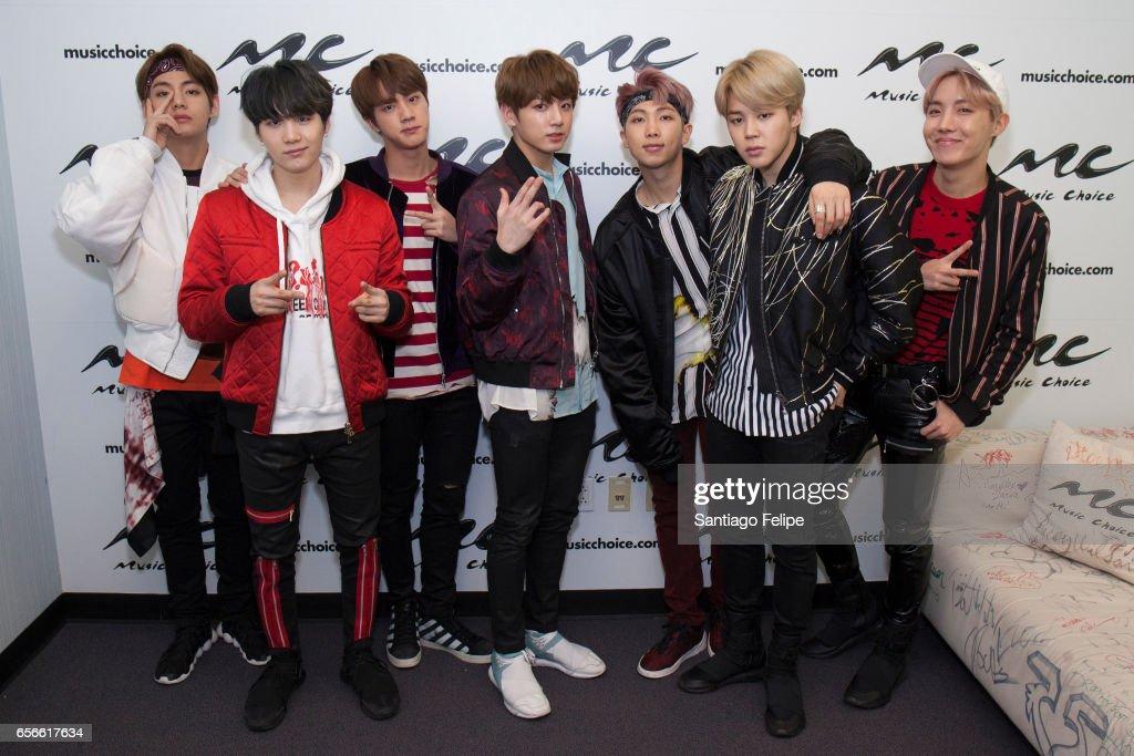 BTS Visits Music Choice : News Photo