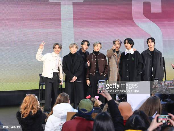 Jin Suga JHope RM Jimin V and Jungkook of KPop band BTS are seen during an interview at the 'Today' Show on February 21 2020 in New York City