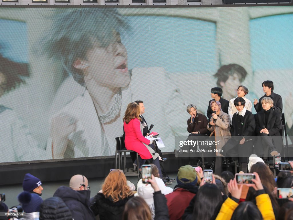 jin suga jhope rm jimin v and jungkook of kpop band bts are seen an picture id1202240224