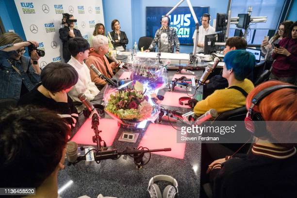RM Jin Suga Jungkook Jimin V and JHope of BTS visit The Elvis Duran Z100 Morning Show at Z100 Studio on April 12 2019 in New York City