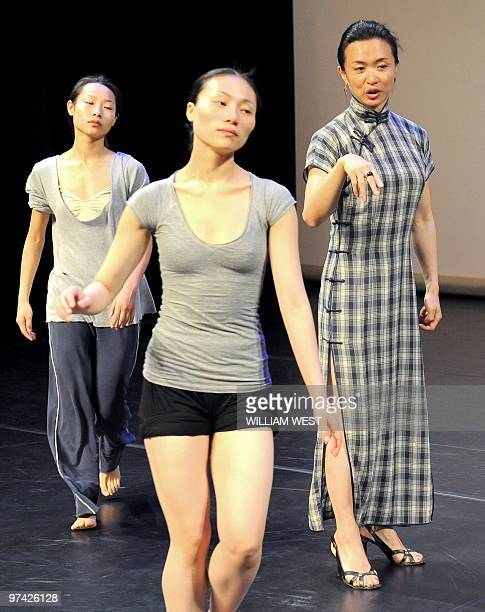 Jin Xing China's most famous and successful choreographer/dancer and the first transsexual recognized by the Chinese government directs the rehearsal...