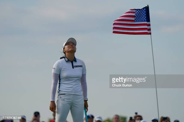 Jin Young Ko of Korea celebrates after winning the Volunteers of America Classic at the Old American Golf Club on July 4, 2021 in The Colony, Texas.