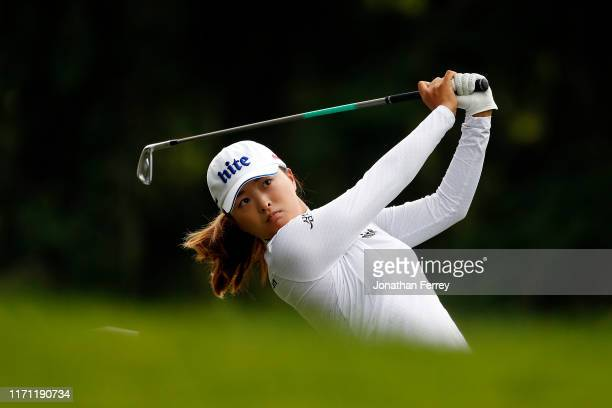 Jin Young Ko of Korea hits on the 13th hole during the second round of the LPGA Cambia Portland Classic at Columbia Edgewater Country Club on August...