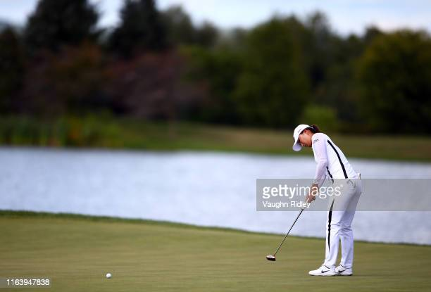 Jin Young Ko of Korea putts on the 2nd green during the final round of the CP Women's Open at Magna Golf Club on August 25 2019 in Aurora Canada