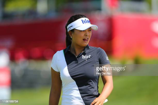 Jin Young Ko of Korera on the 13th hole during the first round of the Dow Great Lakes Bay Invitational at Midland Country Club on July 17 2019 in...