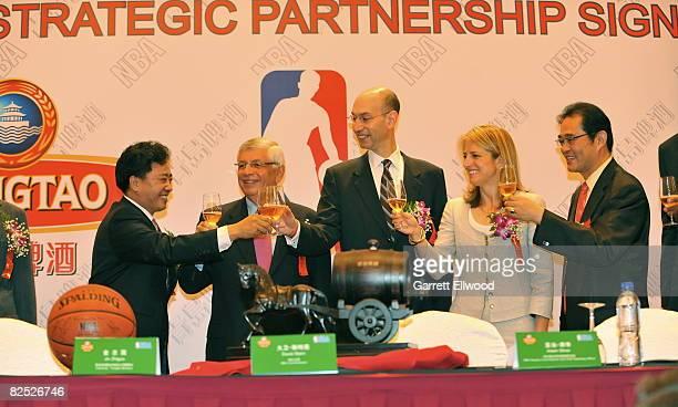 Jin Zhiguo Chairman of Tsingtao Brewery NBA Commissioner David Stern NBA Deputy Commissioner Adam Silver Heidi Ueberroth President of Global...