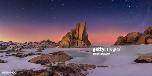 jindabyne,australia - snowcapped mountain stock pictures, royalty-free photos & images