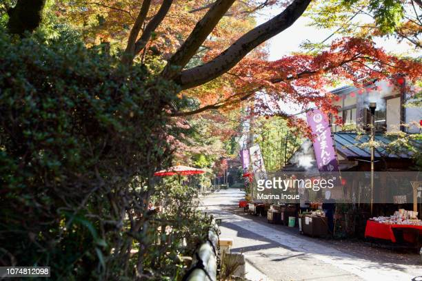 jindai temple in japan - inoue stock photos and pictures