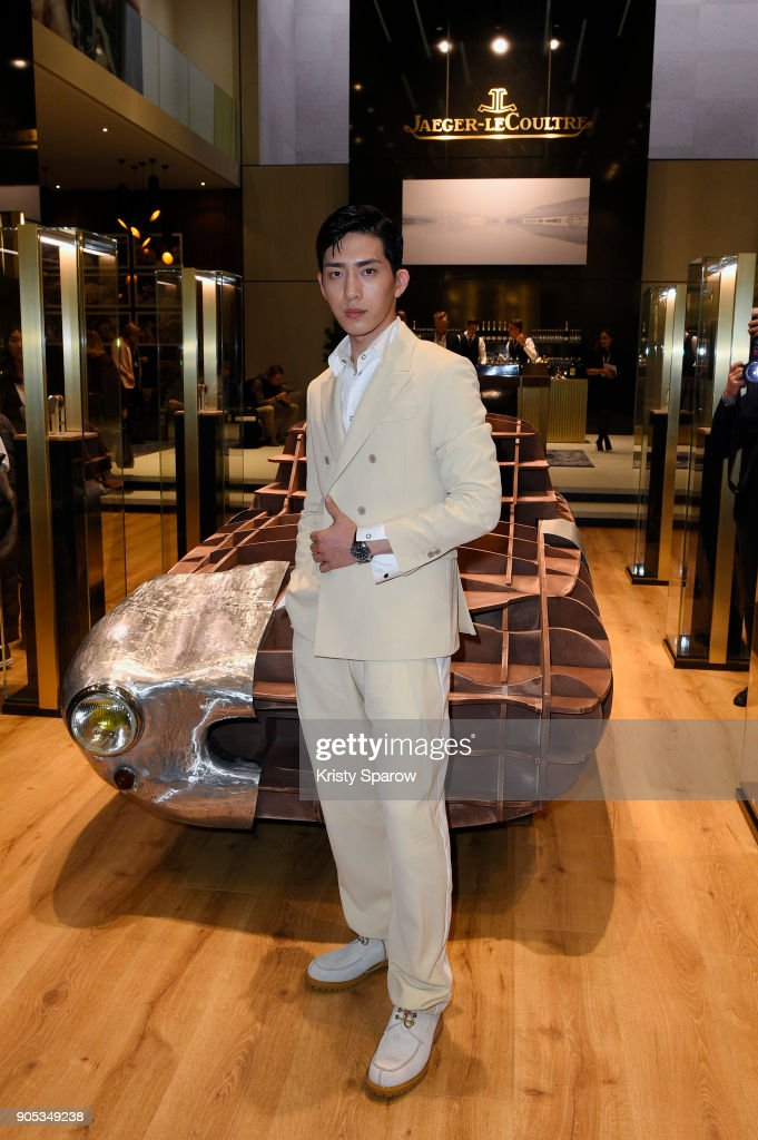 Jing Boran poses during Jaeger-LeCoultre Polaris at the SIHH 2018 at Pavillon Sicli on January 15, 2018 in Les Acacias, Switzerland.