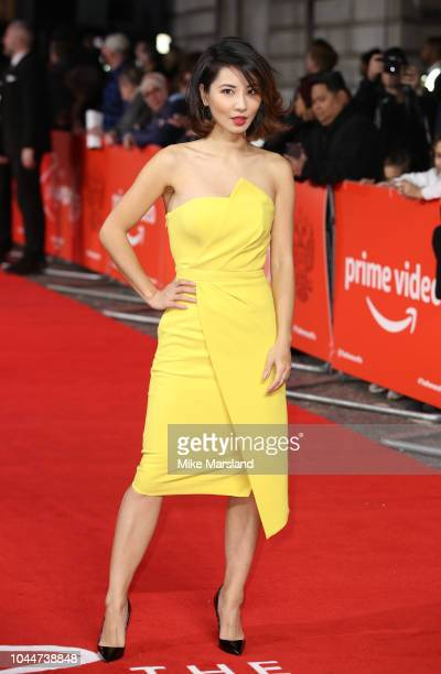 "Jing Lusi attends the World Premiere of Amazon Prime Video's ""The Romanoffs"" at The Curzon Mayfair on October 2, 2018 in London, England."