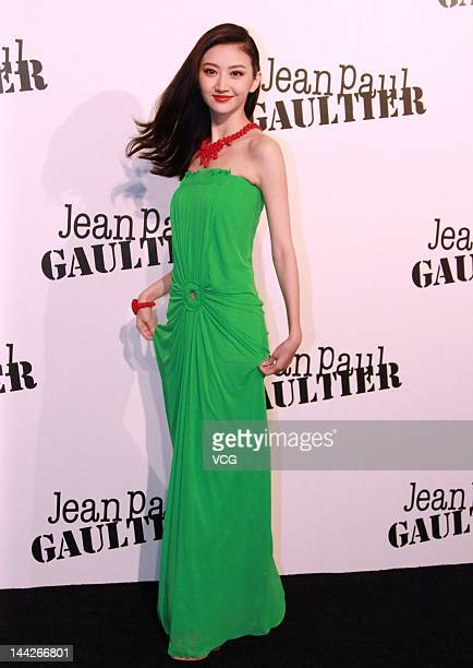 Jing Tian attends the Jean Paul Gaultier show on May 11 2012 in Beijing China