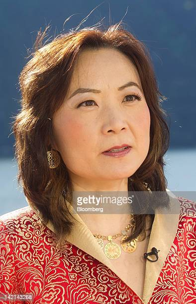 Jing Ulrich, managing director and chairman of global markets for China at JPMorgan Chase & Co., speaks during a television interview at the...