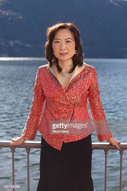 Jing Ulrich, managing director and chairman of global markets for China at JPMorgan Chase & Co., poses for a photograph at the Ambrosetti Workshop in...