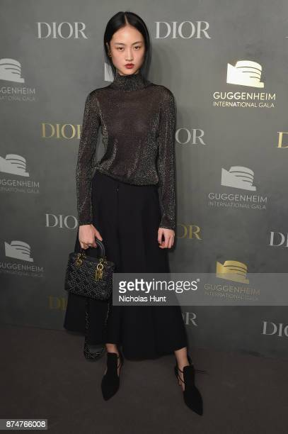 Jing Wen attends the 2017 Guggenheim International Gala PreParty made possible by Dior on November 15 2017 in New York City