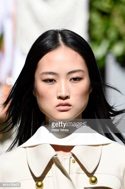 Jing Wen walks the runway after Tory Burch show during New York Fashion Week at Cooper Hewitt Smithsonian Design Museum on September 8 2017 in New...