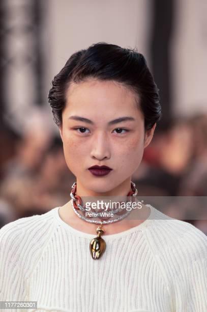 Jing Wen walks the runway during the Chloe Womenswear Spring/Summer 2020 show as part of Paris Fashion Week on September 26, 2019 in Paris, France.