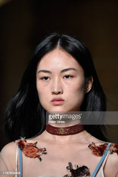 Jing Wen walks the runway during the Lanvin show as part of the Paris Fashion Week Womenswear Fall/Winter 2019/2020 on February 27 2019 in Paris...