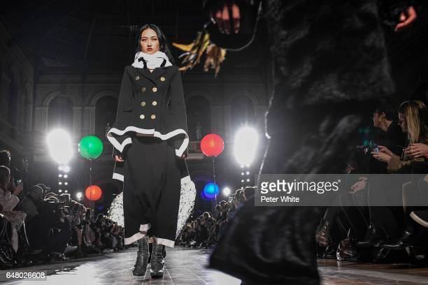 Jing Wen walks the runway during the Sonia Rykiel show as part of the Paris Fashion Week Womenswear Fall/Winter 2017/2018 on March 4 2017 in Paris...
