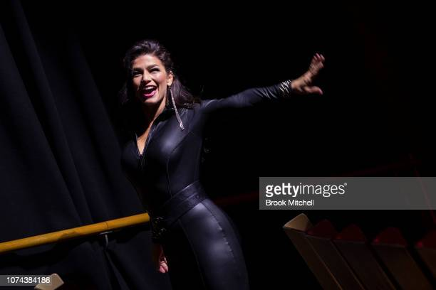 Jinger Leigh performs during a media call for The Illusionists Direct From Broadway at Sydney Opera House on December 19 2018 in Sydney Australia