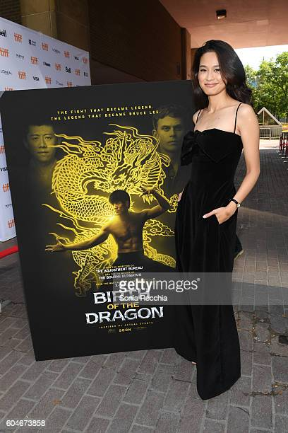 Jingjing Qu attends Birth Of A Dragon TIFF premiere and afterparty on September 13 2016 in Toronto Canada