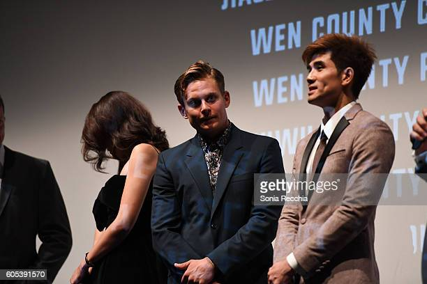 Jingjing Qu Billy Magnussen and Philip Ng attend Birth Of A Dragon TIFF premiere and afterparty on September 13 2016 in Toronto Canada