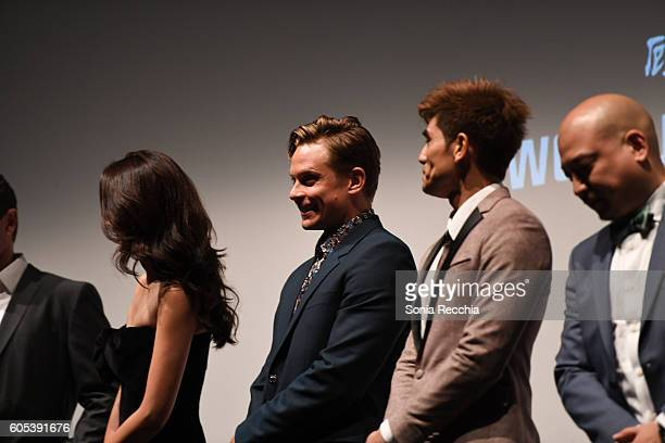 Jingjing Qu Billy Magnussen Philip Ng and Simon Yin attend Birth Of A Dragon TIFF premiere and afterparty on September 13 2016 in Toronto Canada