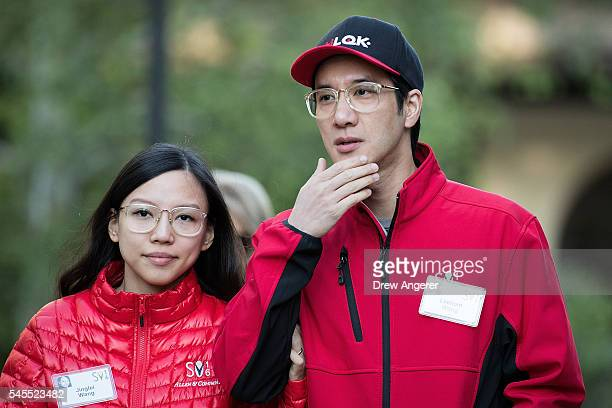 Jinglei Wang and Leehom Wang a ChineseAmerican singersongwriter record producer actor and film director attend the annual Allen Company Sun Valley...