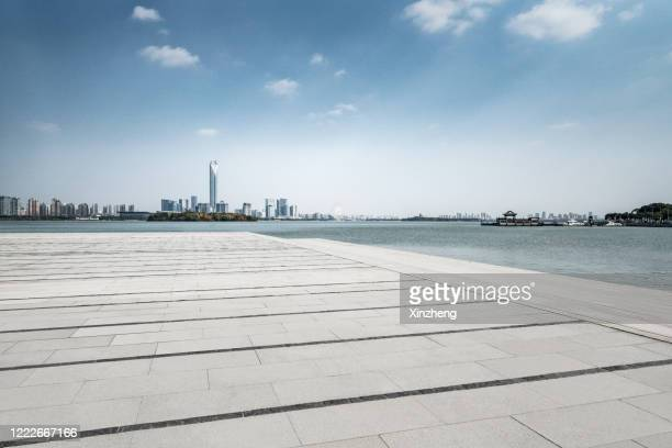 jinji lake, suzhou industrial park, chinese city of suzhou - chinese culture stock pictures, royalty-free photos & images