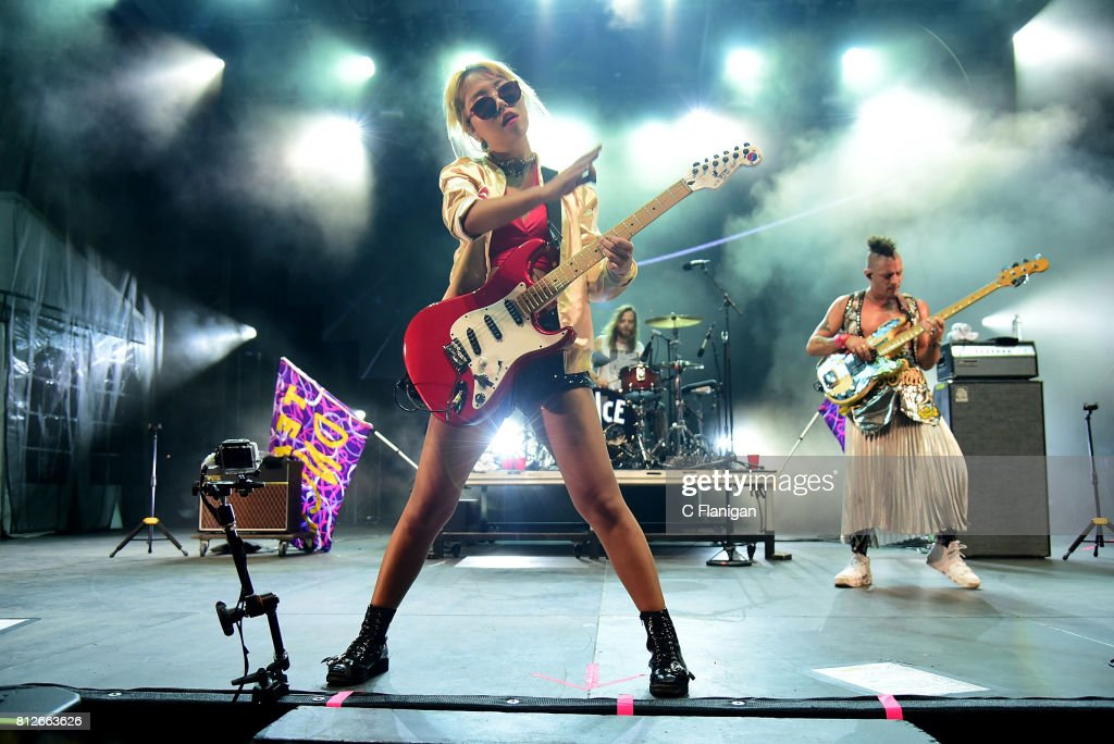 Jinjoo Lee and Cole Whittle of DNCE perform during the 2017 Festival d'ete de Quebec on July 10, 2017 in Quebec City, Canada.