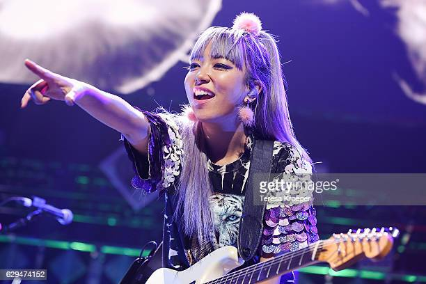 JinJoo Lee of DNCE performs at Hot 995's Jingle Ball 2016 at Verizon Center on December 12 2016 in Washington DC