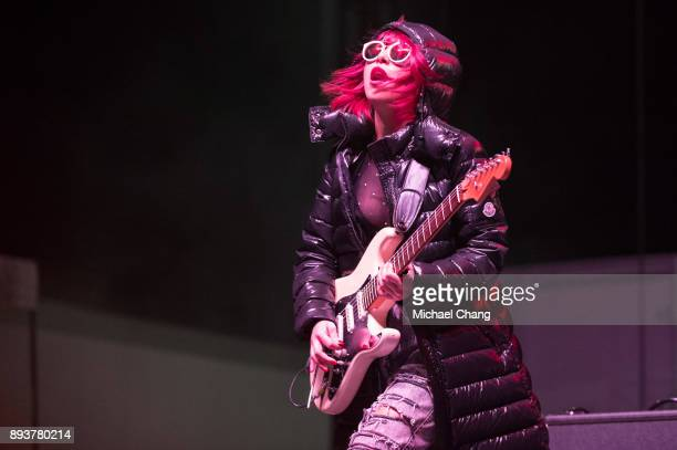 JinJoo Lee of DNCE performs during Base*FEST Powered by USAA on December 15 2017 at Naval Air Station Pensacola Florida