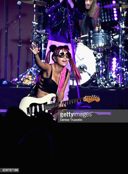 JinJoo Lee of DNCE performs during opening night of the Selena Gomez 'Revival World Tour' at the Mandalay Bay Events Center on May 06 2016 in Las...