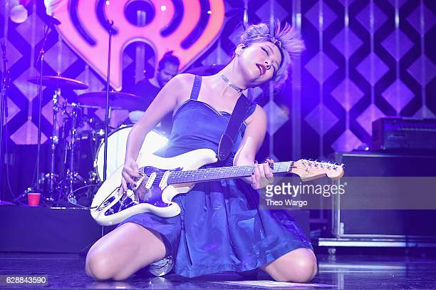 JinJoo Lee of DNCE performs onstage during Z100's Jingle Ball 2016 at Madison Square Garden on December 9 2016 in New York New York