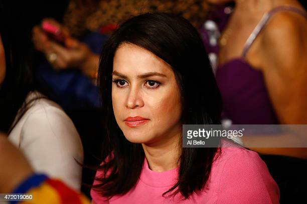 Jinkee Pacquiao wife of Manny Pacquiao attends the welterweight unification championship bout on May 2 2015 at MGM Grand Garden Arena in Las Vegas...