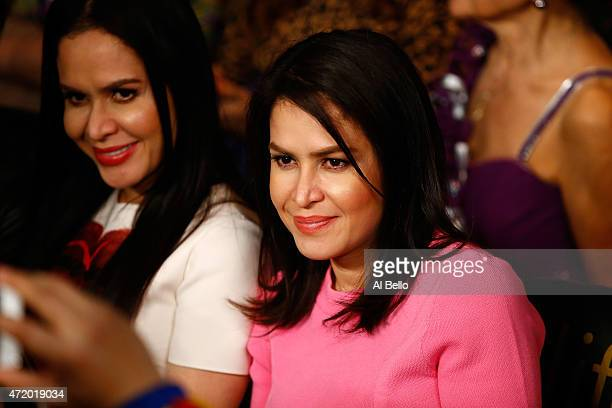 Jinkee Pacquiao wife of Manny Pacquiao attends their welterweight unification championship bout on May 2 2015 at MGM Grand Garden Arena in Las Vegas...