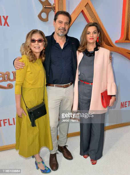 Jinko Gotoh Sergio Pablos and Marisa Roman attend Netflix's 'Klaus' Los Angeles Premiere at Regency Bruin Theater on November 02 2019 in Westwood...