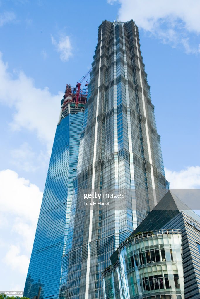 Jinmao Tower and World Financial Centre behind, Pudong. : Stock Photo