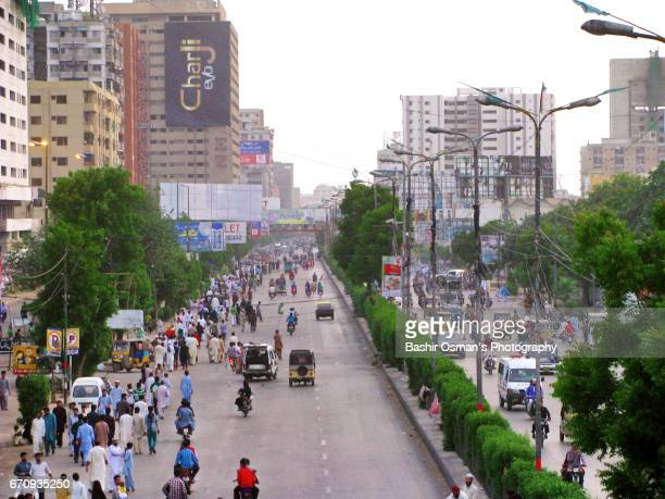 m. a. jinnah road -the old city areas of karachi - mohammad ali jinnah road stock pictures, royalty-free photos & images