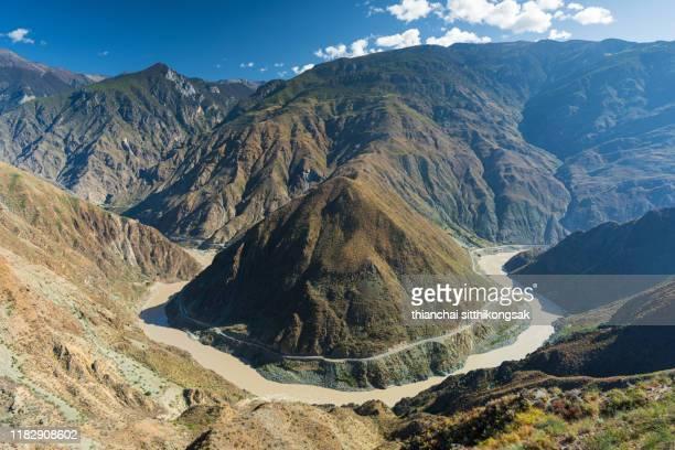 jinsha river,yunnan - yangtze river stock pictures, royalty-free photos & images