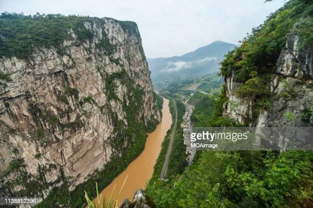 jinshahe river,zhaotong,yunnan,china - yunnan province stock pictures, royalty-free photos & images