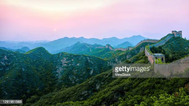 jinshanling great wall in hebei province - visual_effects stock pictures, royalty-free photos & images