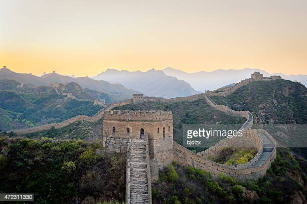 Jinshanling Great Wall under dawn