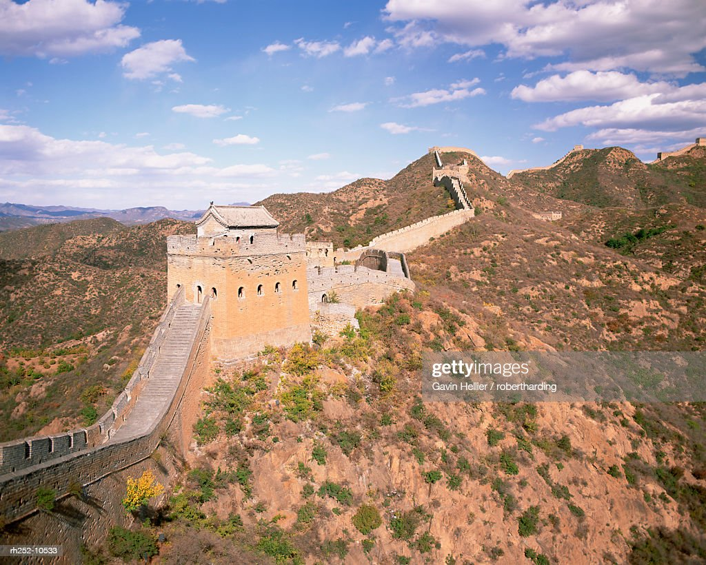Jinshanling section of the Great Wall of China, UNESCO World Heritage Site, near Beijing, China, Asia : Foto de stock