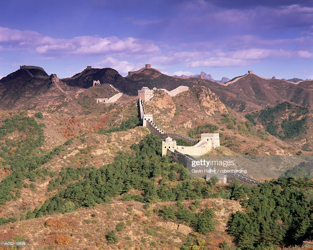 Jinshanling section, the Great Wall of China, UNESCO World Heritage Site, near Beijing, China, Asia : Foto de stock