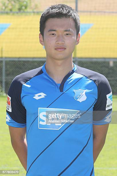 JinSu Kim poses during the offical team presentation of TSG 1899 Hoffenheim on July 19 2016 in Sinsheim Germany