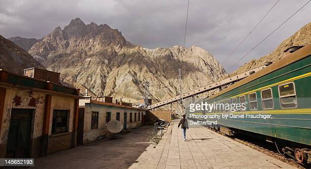 :jintieshan mines train station - gansu province stock pictures, royalty-free photos & images