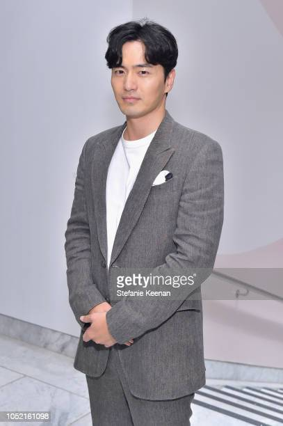 Jinuk Lee attends the Hammer Museum 16th Annual Gala in the Garden with generous support from South Coast Plaza at the Hammer Museum on October 14...