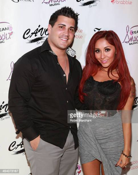 Jionni LaValle and Nicole Snooki Polizzi attends Nicole Snooki Polizzi birthday at Cavo on December 6 2013 in New York City