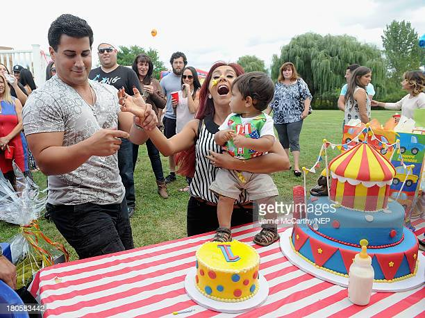 Jionni LaValle Lorenzo Dominic LaValle and Nicole 'Snooki' Polizzi celebrate Lorenzo Dominic LaValle's First Birthday on September 14 2013 in...