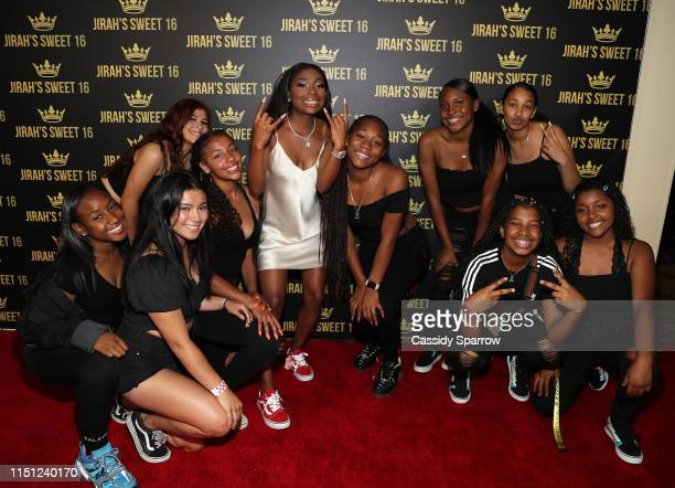 Jirah Mayweather and guest attend her Sweet 16 Birthday Party at Hyatt In Valencia on June 20 2019 in Valencia California